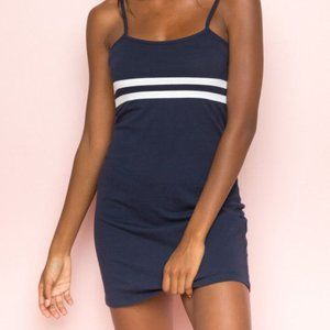 Brandy Melville Lillian Blue and White Dress